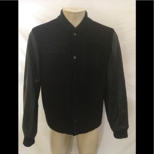 DNINE RESERVE Men's Size XL Black Varsity Jacket